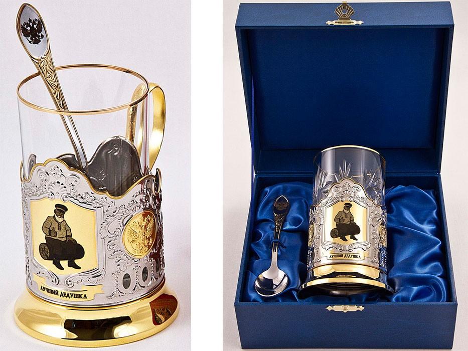Позолоченный набор для чая Золотой дедушка