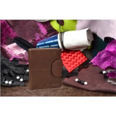 Мужское кожаное коричневое портмоне коллекции Gianni Conti