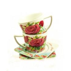 Чайный набор на 2 персоны Чайная роза