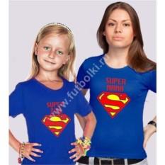 Парные футболки для мамы и дочки Superman