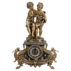 Часы из бронзы Дети с ракушкой