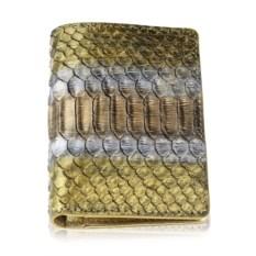 Золотой кошелек ручной работы из кожи питона