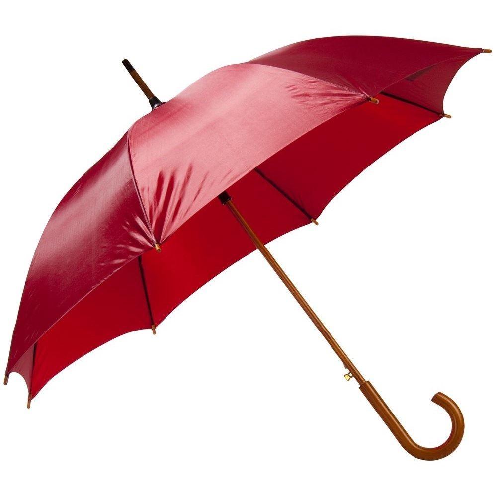 Зонт-трость с деревянной ручкой