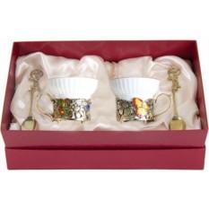 Набор из двух чашек Бабочки и цветы
