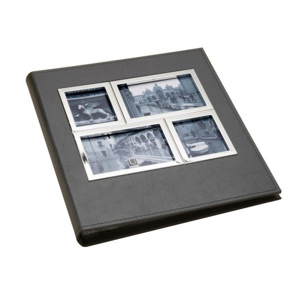 Фотоальбом Horizon 5up, хром/черный