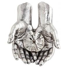 Скульптура с часами Время в твоих руках, посеребрение