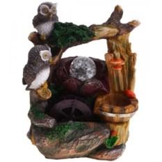 Настольный декоративный с подсветкой Два совёнка