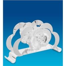 Салфетница с посеребрением и кристаллами Swarovski Роза