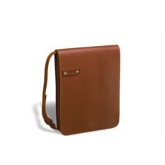 Кожаная сумка через плечо Brialdi Kansas (цвет — рыжий)