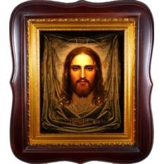 Спас Нерукотворный. Икона Иисуса Христа на холсте.