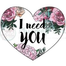 Открытка-сердечко I need you
