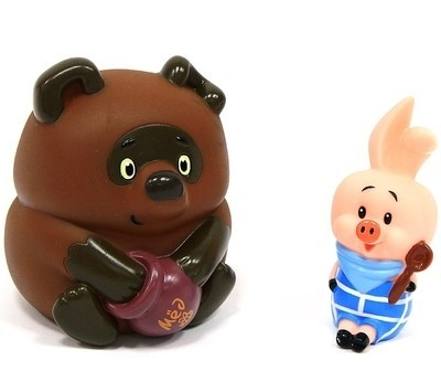 Набор игрушек для ванной Винни-Пух и Пятачок