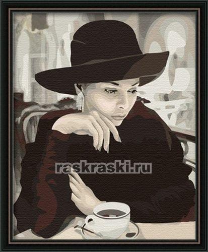 Раскраска по номерам Menglei За чашкой кофе