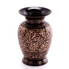 Латунная ваза (цвет: черный)