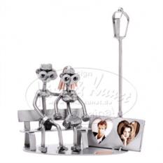 Статуэтка из металла Влюбленные на скамейке, HINZ&KUNST