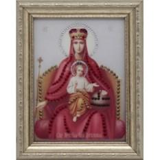 Икона Божией Матери Державная Swarovski