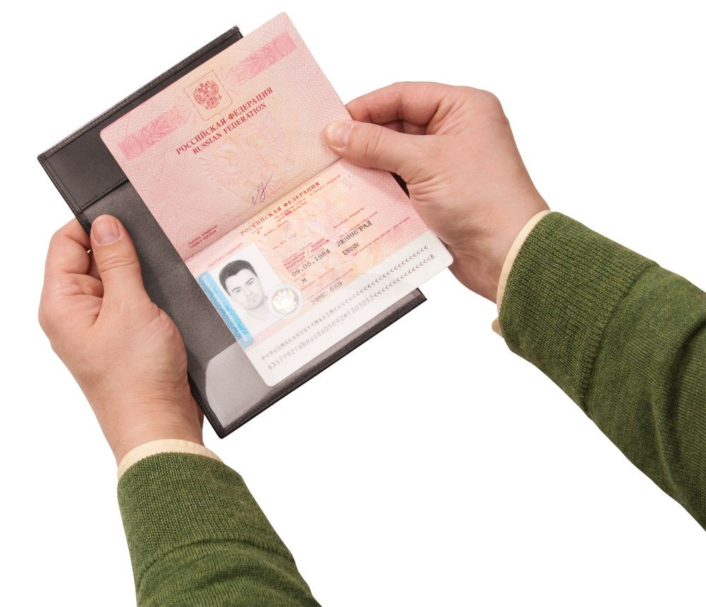 Обложка для загранпаспорта Passcare, черная