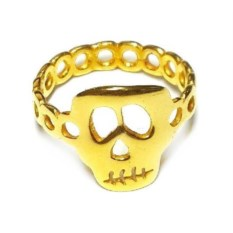 Модульное кольцо Фредди, позолоченное серебро