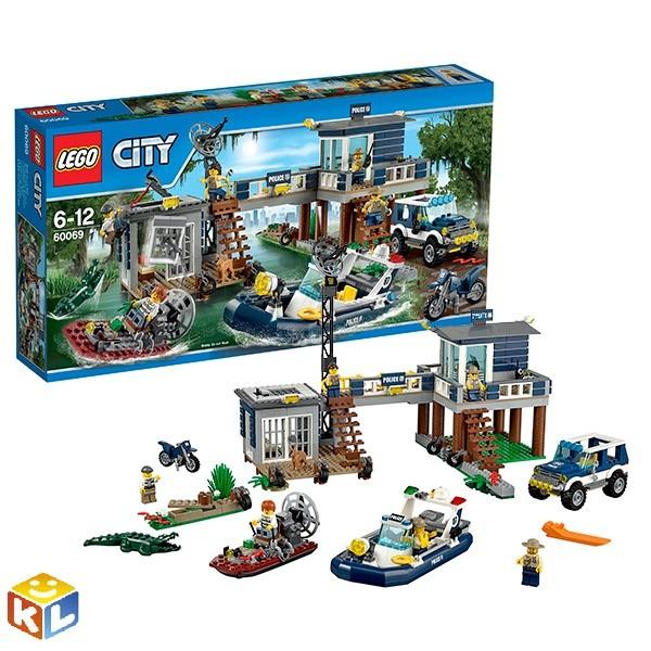 Конструктор Лего город Участок новой лесной полиции