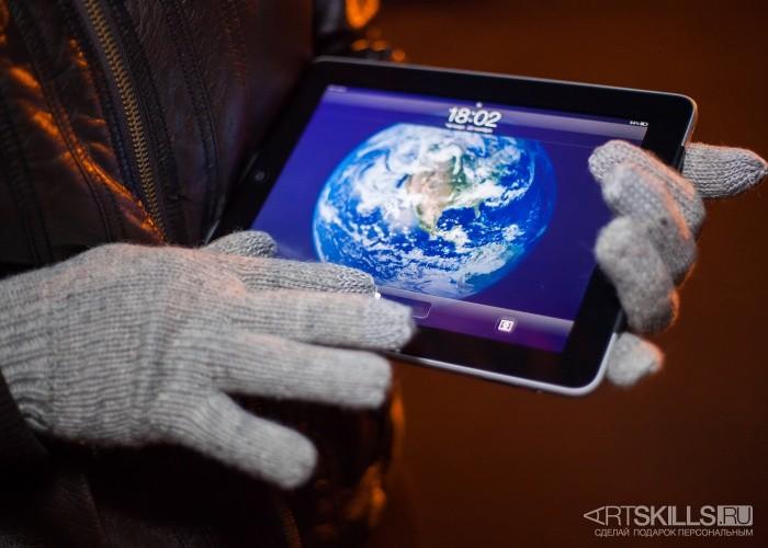 Перчатки для сенсорных экранов Есть контакт! (серые)