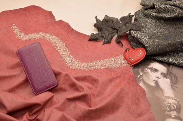 Кожаный чехол для iPhone 6 (тип книжка) «Пурпурная наппа»