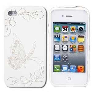 Чехол для iPhone 4/4S White Butterfly из серии Tune