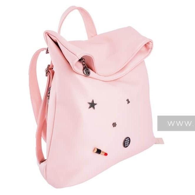 Розовая сумка-рюкзак KikiFace