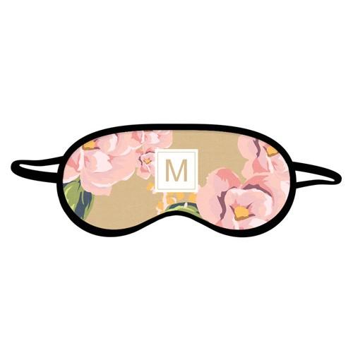 Именная маска для сна «Розовые цветы»