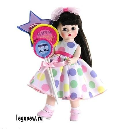 Кукла Брюнетка с шариками