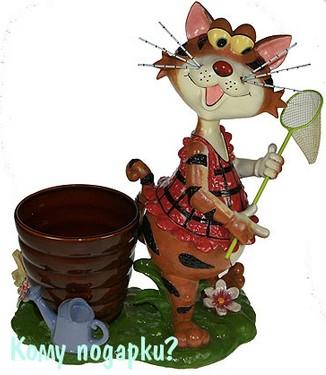 Ландшафтная фигурка-кашпо «Кот»