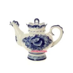 Чайник Гжель заварочный керамический Подарочный большой