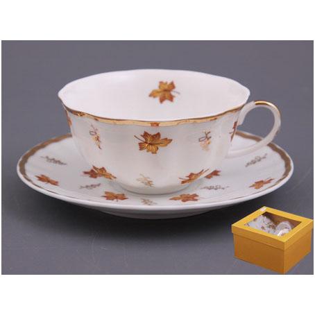 Чайный набор на 1 персону 2 пр. «Кленовые листья»