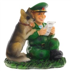 Фигурка декоративная Пограничник с собакой