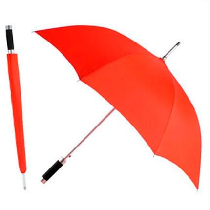 Зонт-трость Rumba, полуавтомат в чехле, красный