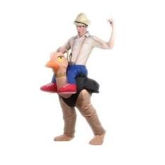 Надувной карнавальный костюм Наездник на страусе