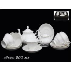 Фарфоровый чайный сервиз 16 предметов в подарочной упаковке