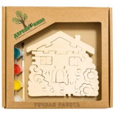 Развивающая игрушка Домик с цветами с красками