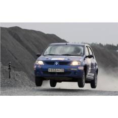 Заезд в роли штурмана на Renault Logan (2 круга)