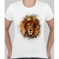 Женская футболка Лев в короне