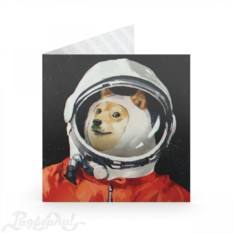 Открытка Космонавт