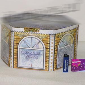 Крупная батарея фейерверков «Морозные узоры»