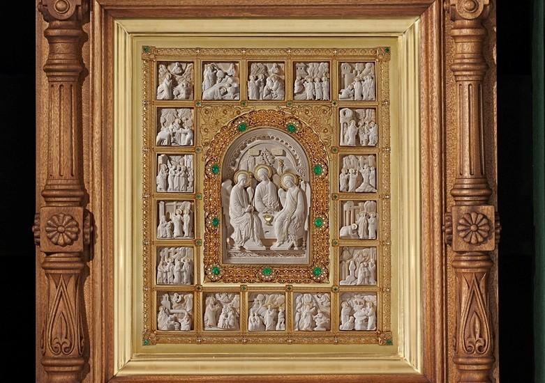 Икона Троица с житием
