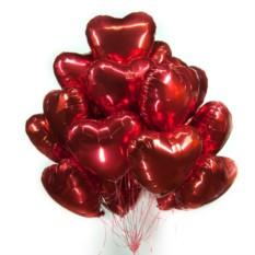 Фольгированные шары Красные сердечки