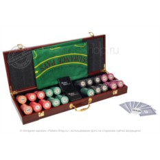Набор для покера LUX на 500 фишек (керамические фишки)