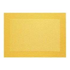 Желтая салфетка с плетеными краями Table tops Asa Selection