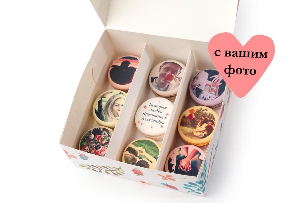 Ассорти из 9 макаронов История вашей любви с открыткой