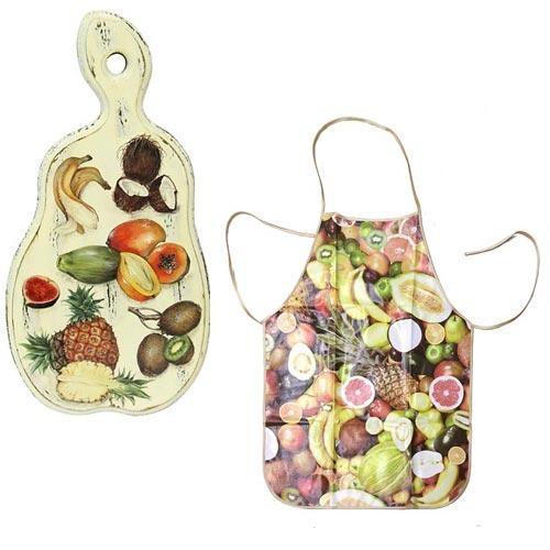 Набор кухонный Экзотические фрукты (доска, фартук)