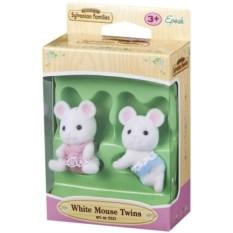 Игровой набор Sylvanian Families Белые мышата-двойняшки