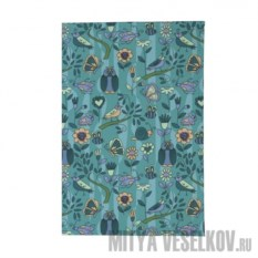 Обложка для паспорта Голубой принт с птичками