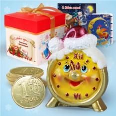 Набор с новогодней свечой «Будильник»